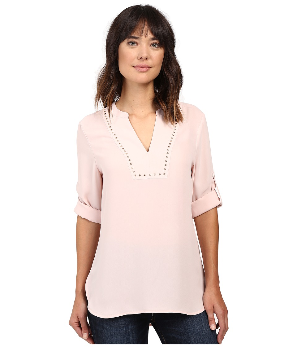 Ivanka Trump - Georgette Tunic with Studs (Blush Pink) Women's Blouse