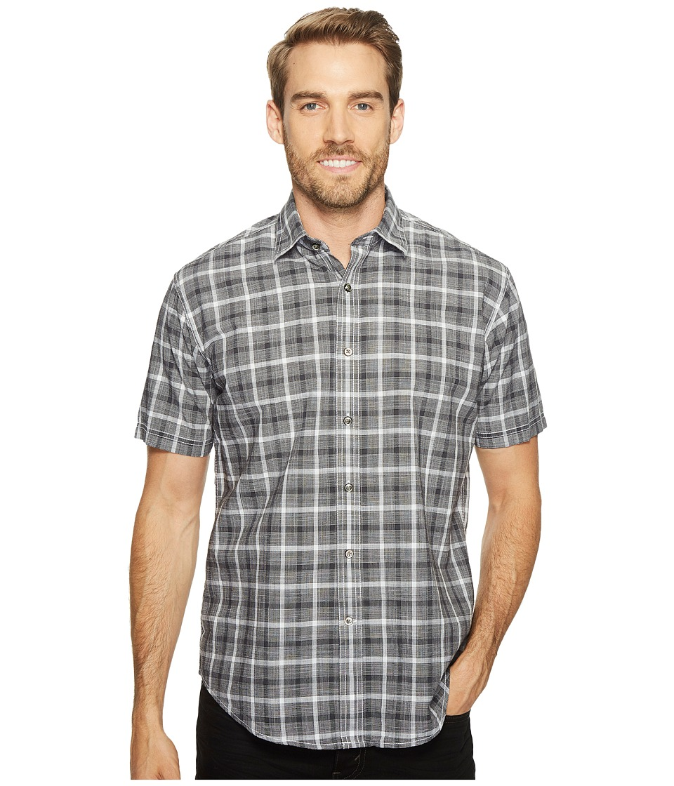 James Campbell - Oakley Short Sleeve Woven Shirt (Black) Men's Clothing