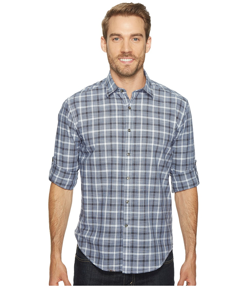 James Campbell - Long Sleeve Oakley Plaid Shirt (Ink) Men's Clothing