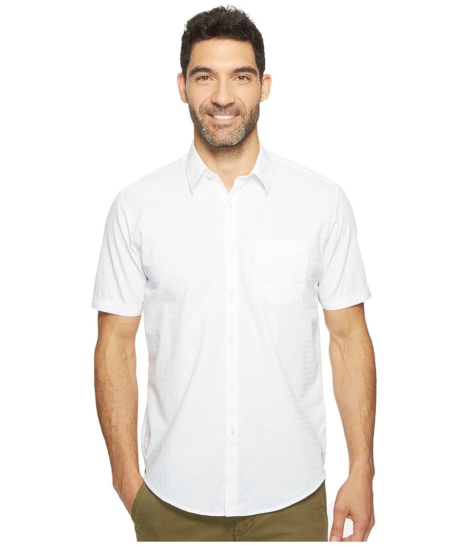 James Campbell - Rubens Short Sleeve Woven Shirt (White) Men's Clothing