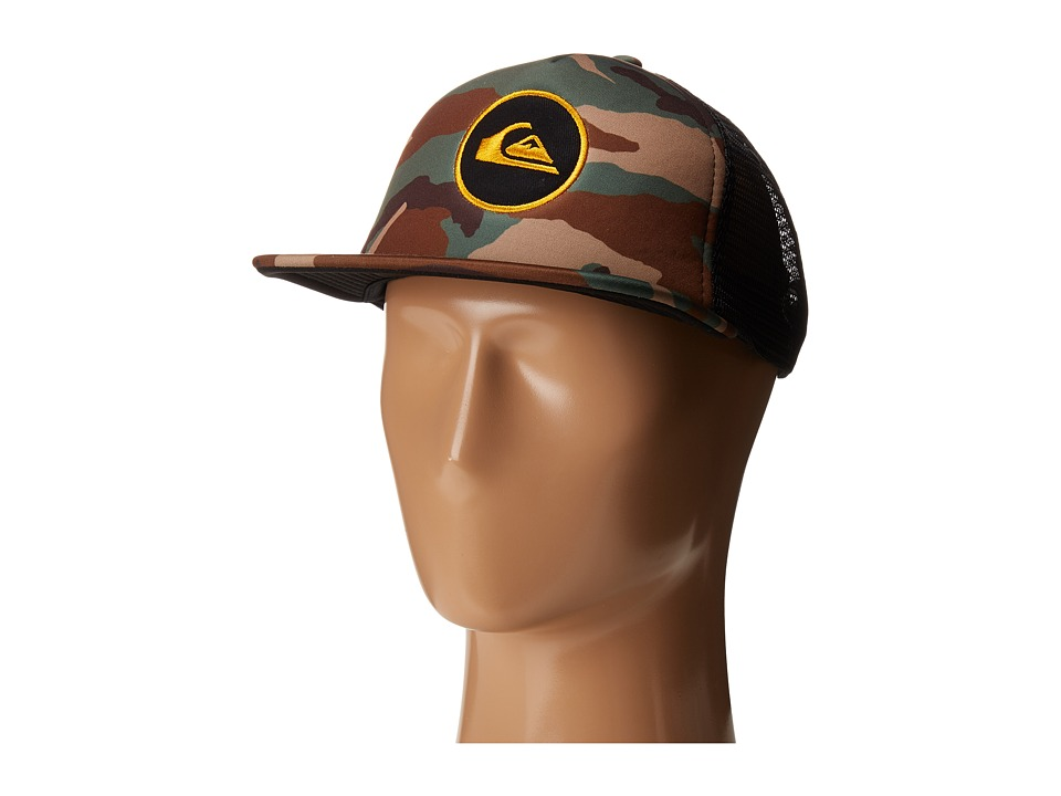 Quiksilver - Snapstearn Trucker Hat (Forest Night) Caps