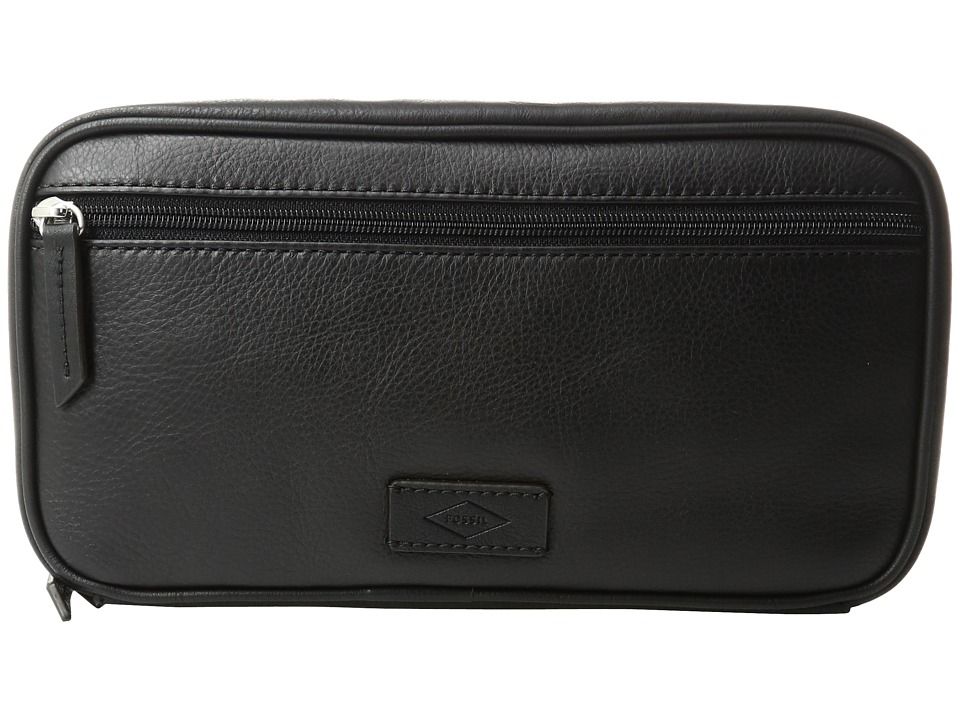 Fossil - Double Zip Shave Kit (Black 2) Bags