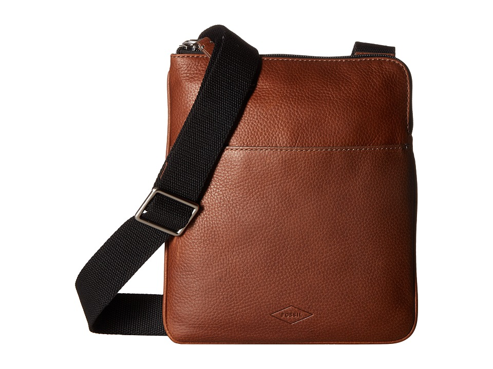 Fossil - Mayfair Courier Bag (Cognac) Bags