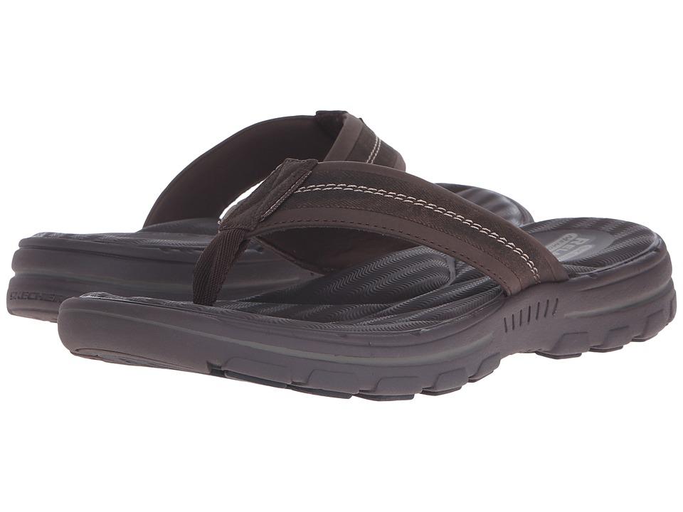 SKECHERS - Relaxed Fit Bravelen-Seleno (Dark Brown) Men's Shoes