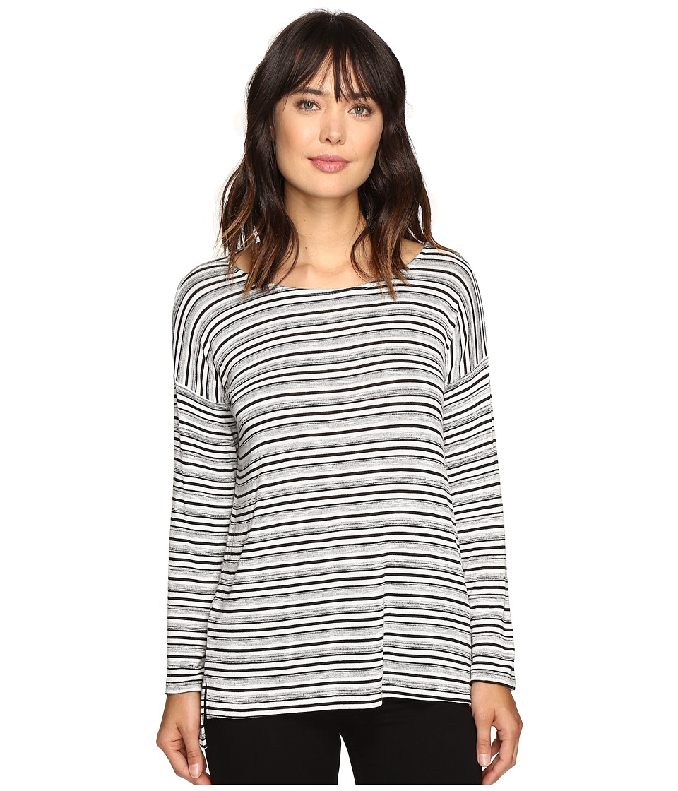 Karen Kane - Drop Shoulder Hi-Low Top (Stripe) Women's Clothing