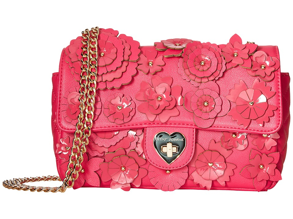 Betsey Johnson - Le Jardin Crossbody (Fuchsia) Cross Body Handbags