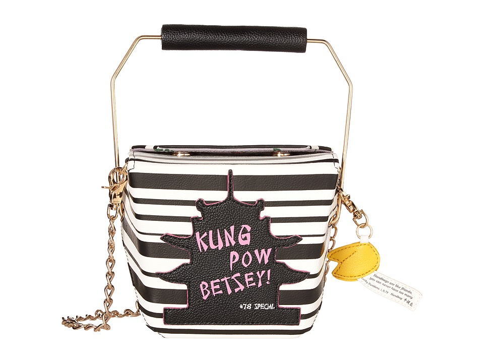 Betsey Johnson - Kung Pow Betsey Crossbody (Stripe) Cross Body Handbags