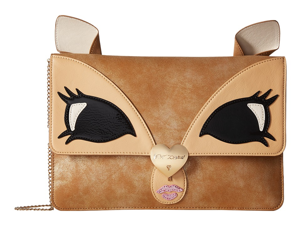 Betsey Johnson - Be A Deer Clutch (Tan) Clutch Handbags