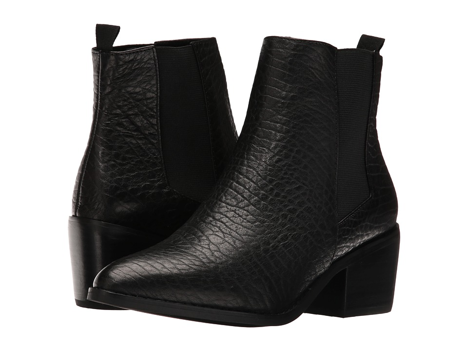 Sol Sana - Edgar Boot (Black Elephant Leather) Women's Boots