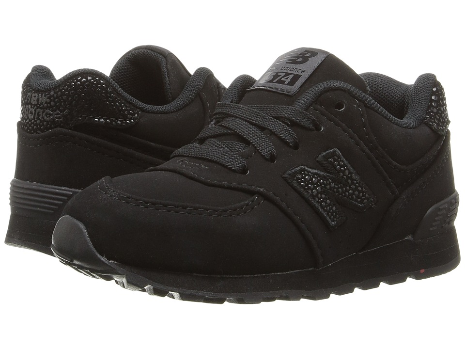 New Balance Kids KL574 (Infant/Toddler) (Black/Black) Boys Shoes