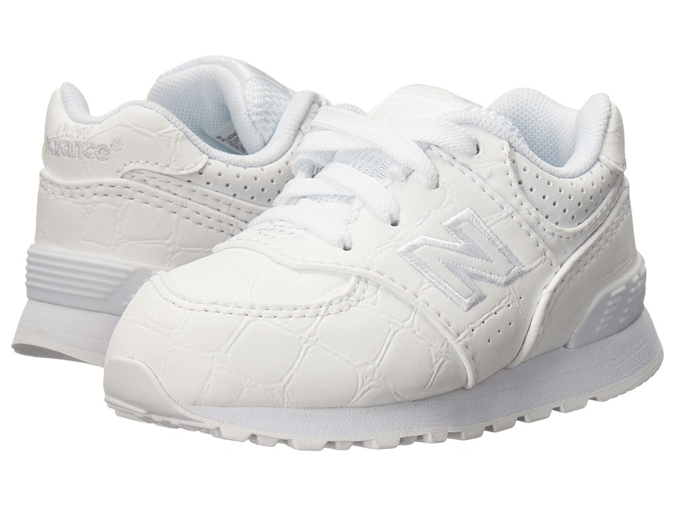 New Balance Kids - KL574 (Infant/Toddler) (White/White) Boys Shoes