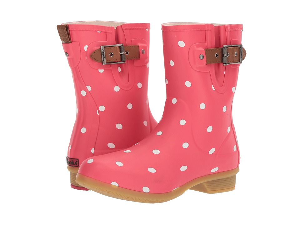 Chooka - Classic Mid Lottie Dot (Watermelon Matte) Women's Rain Boots