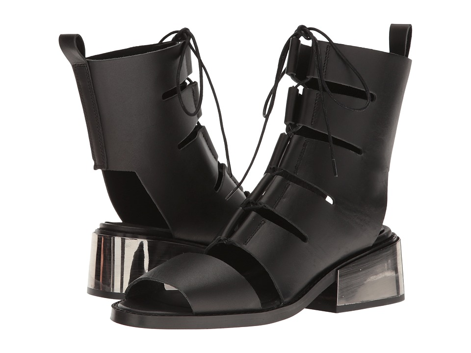 Shellys London Crozet Sandal (Black Leather) Women
