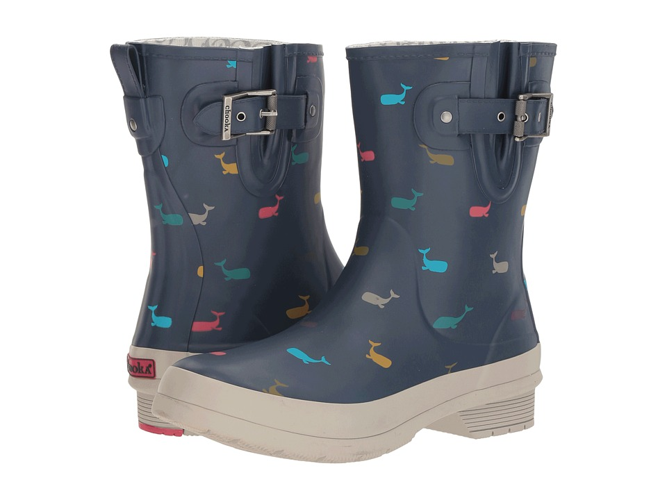 Chooka - Classic Mid Whales (Navy Matte) Women's Rain Boots