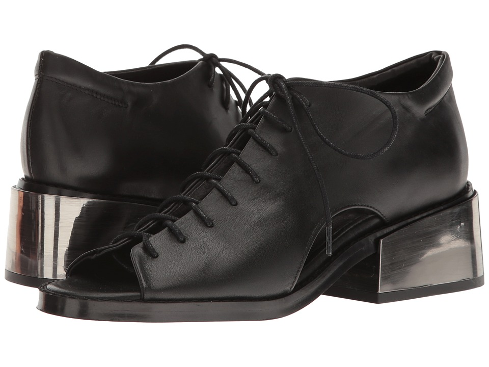 Shellys London Cupelo Oxford (Black Leather) Women