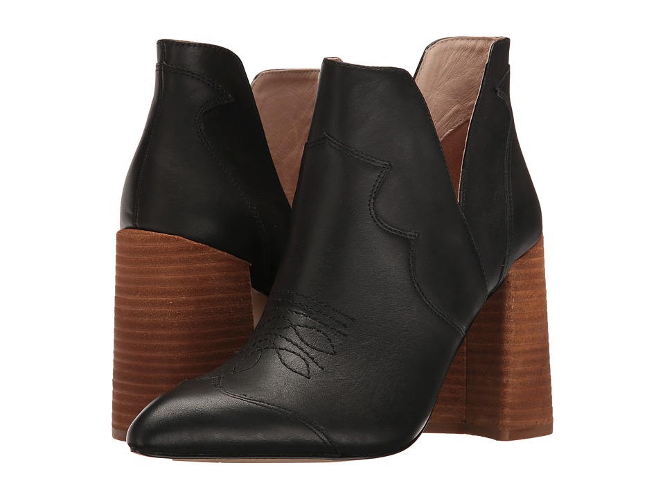 Shellys London Duarte Bootie (Black Leather) High Heels