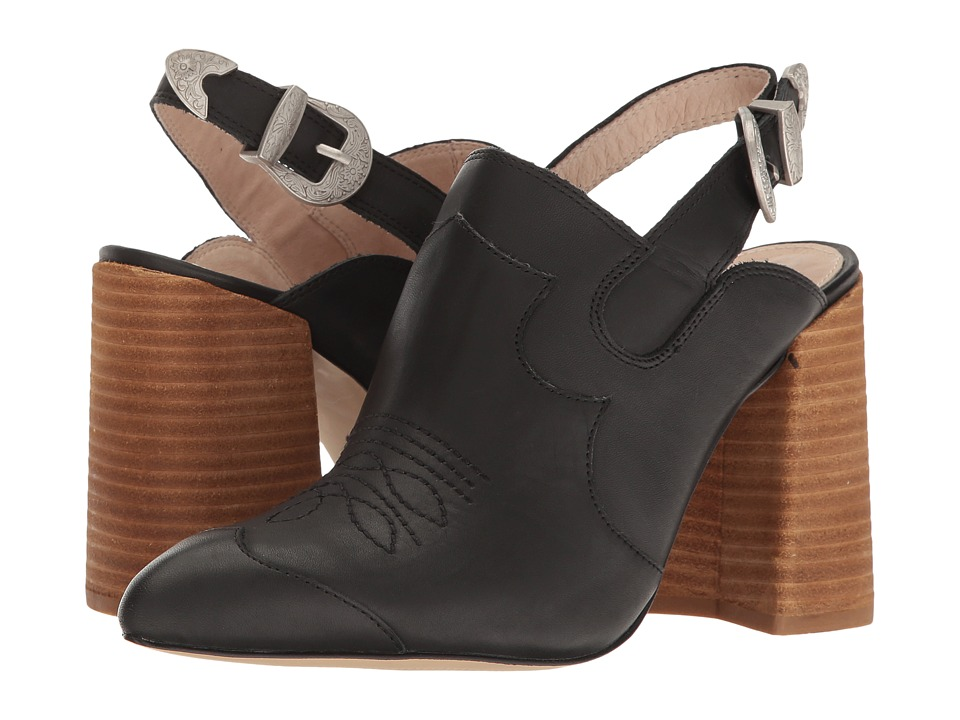 Shellys London Donna Mule (Black Leather) High Heels