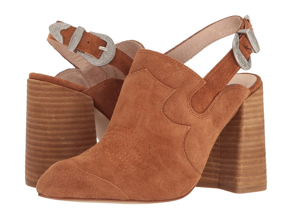 Shellys London Donna Mule (Tan Suede) High Heels
