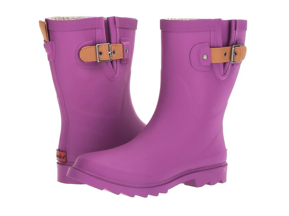 Chooka - Top Solid Mid Rain Boot (Deep Orchid Matte) Women's Rain Boots