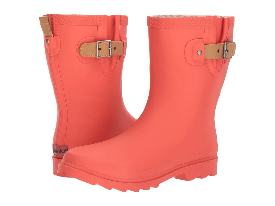 Chooka Top Solid Mid Rain Boot (Watermelon Matte) Women