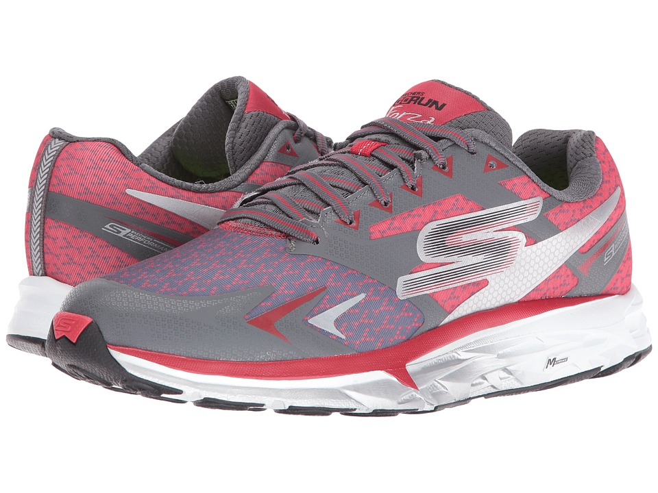 SKECHERS Performance - Go Run Forza (Charcoal/Red) Men's Shoes