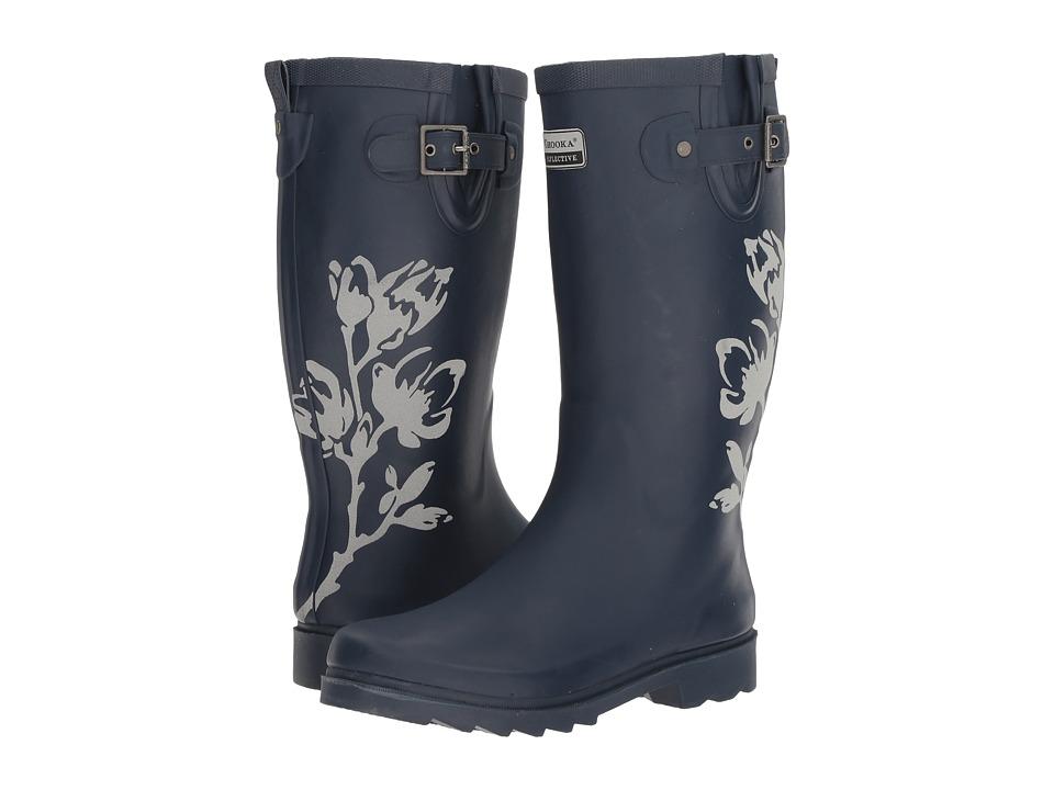 Chooka - Magnolia Reflective (Navy Matte) Women's Rain Boots