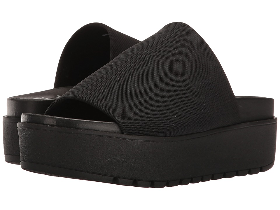 Shellys London Kora Slide (Black Stretch) Women