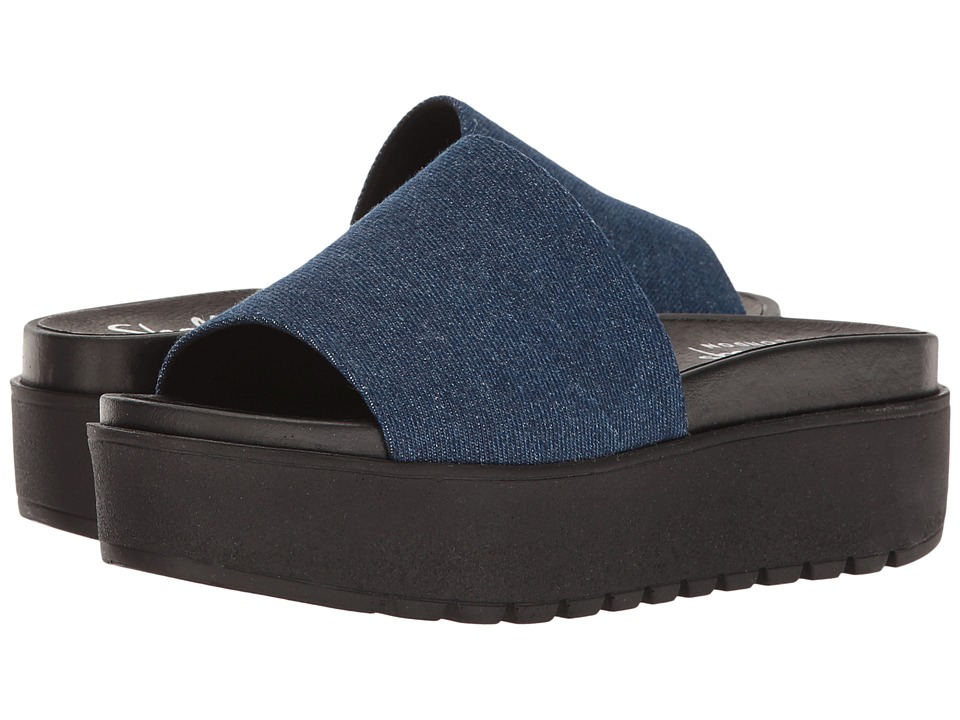 Shellys London Kora Slide (Denim Fabric) Women