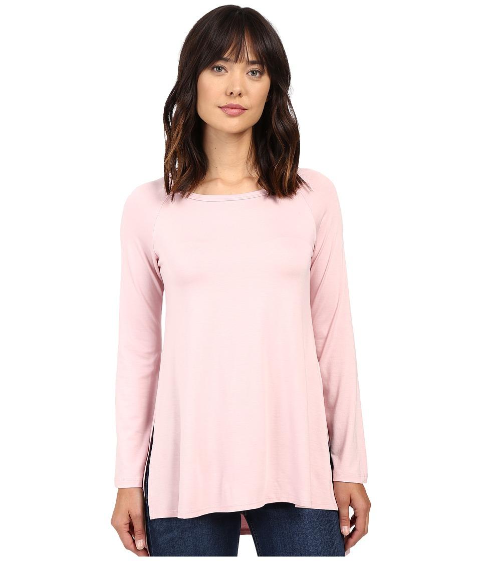 Karen Kane - Hi-Lo Raglan Sleeve Top (Pink) Women's Clothing
