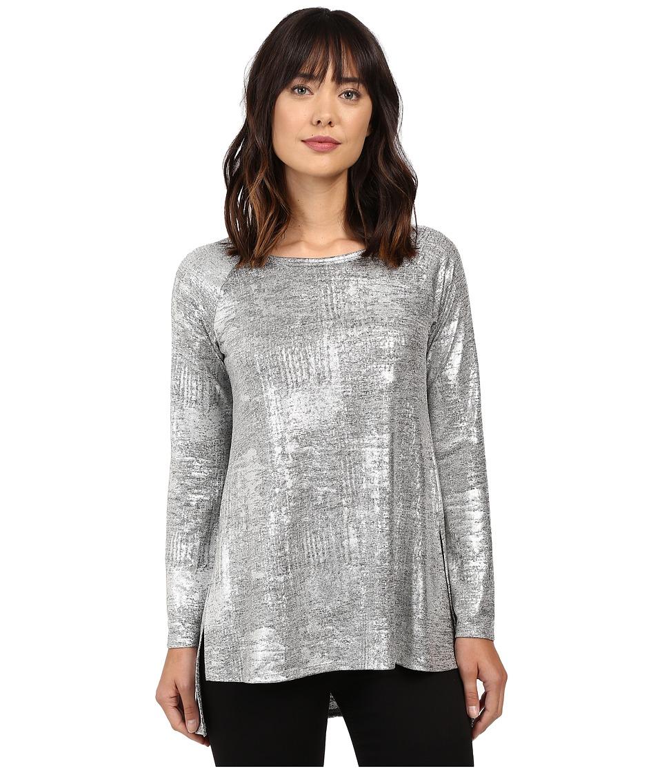 Karen Kane - Hi-Lo Raglan Sleeve Top (Silver) Women's Clothing