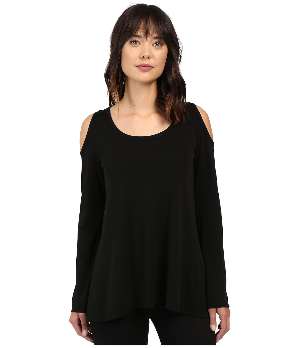 Karen Kane - Cold Shoulder Top (Black 1) Women's Blouse