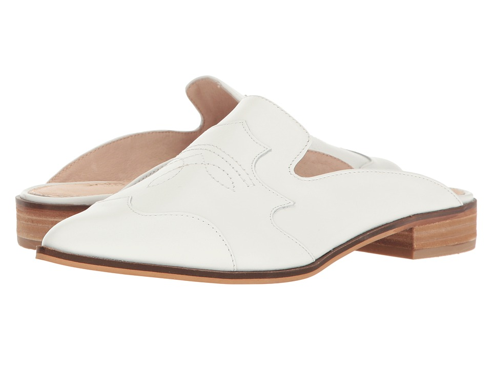 Shellys London - Dora (White Leather) Women's Flat Shoes