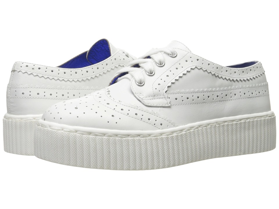 Shellys London Dilys Platform Sneaker (White Leather) Women