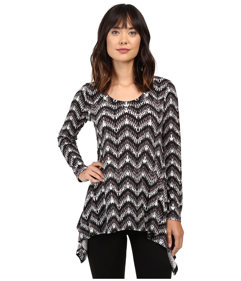 Karen Kane Long Sleeve Handkerchief Top (Print 3) Women