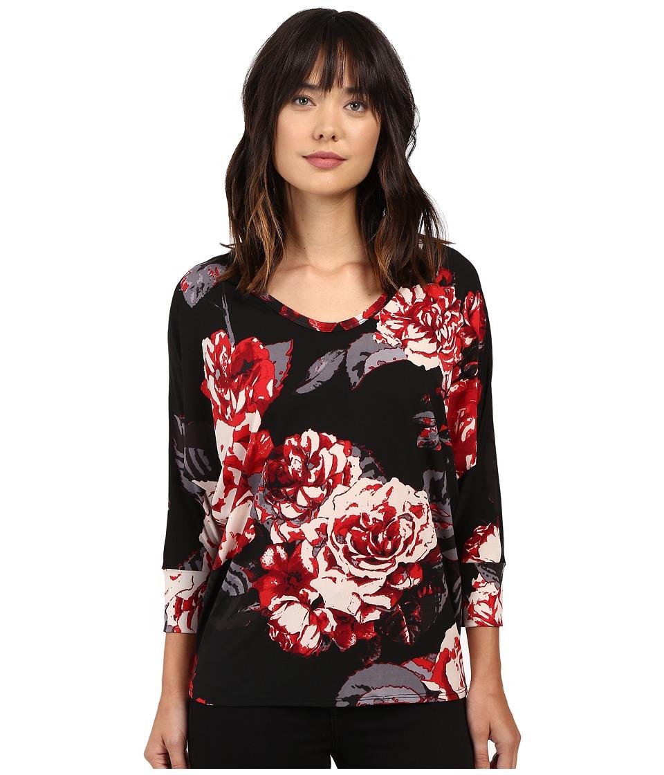 Karen Kane - Rose Print Dolman Top (Print) Women's Clothing