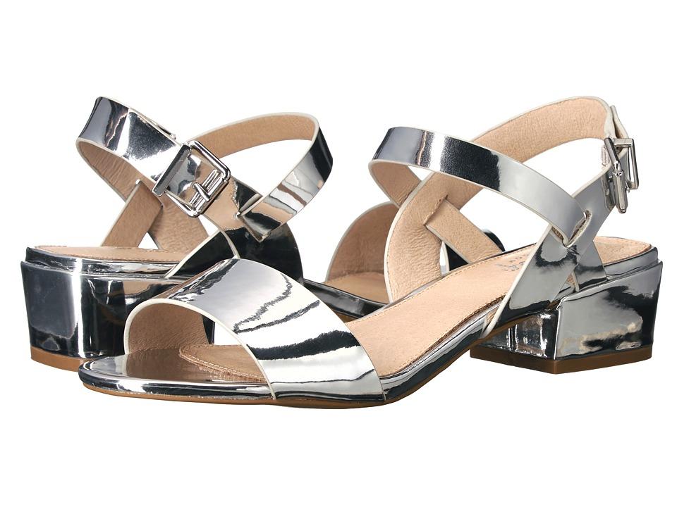 Shellys London - Dacey Sandal (Silver PU) Women's 1-2 inch heel Shoes