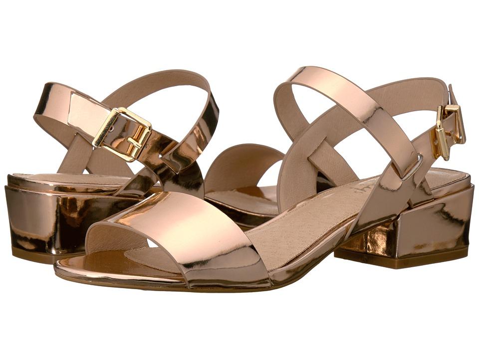 Shellys London - Dacey Sandal (Rose Gold PU) Women's 1-2 inch heel Shoes
