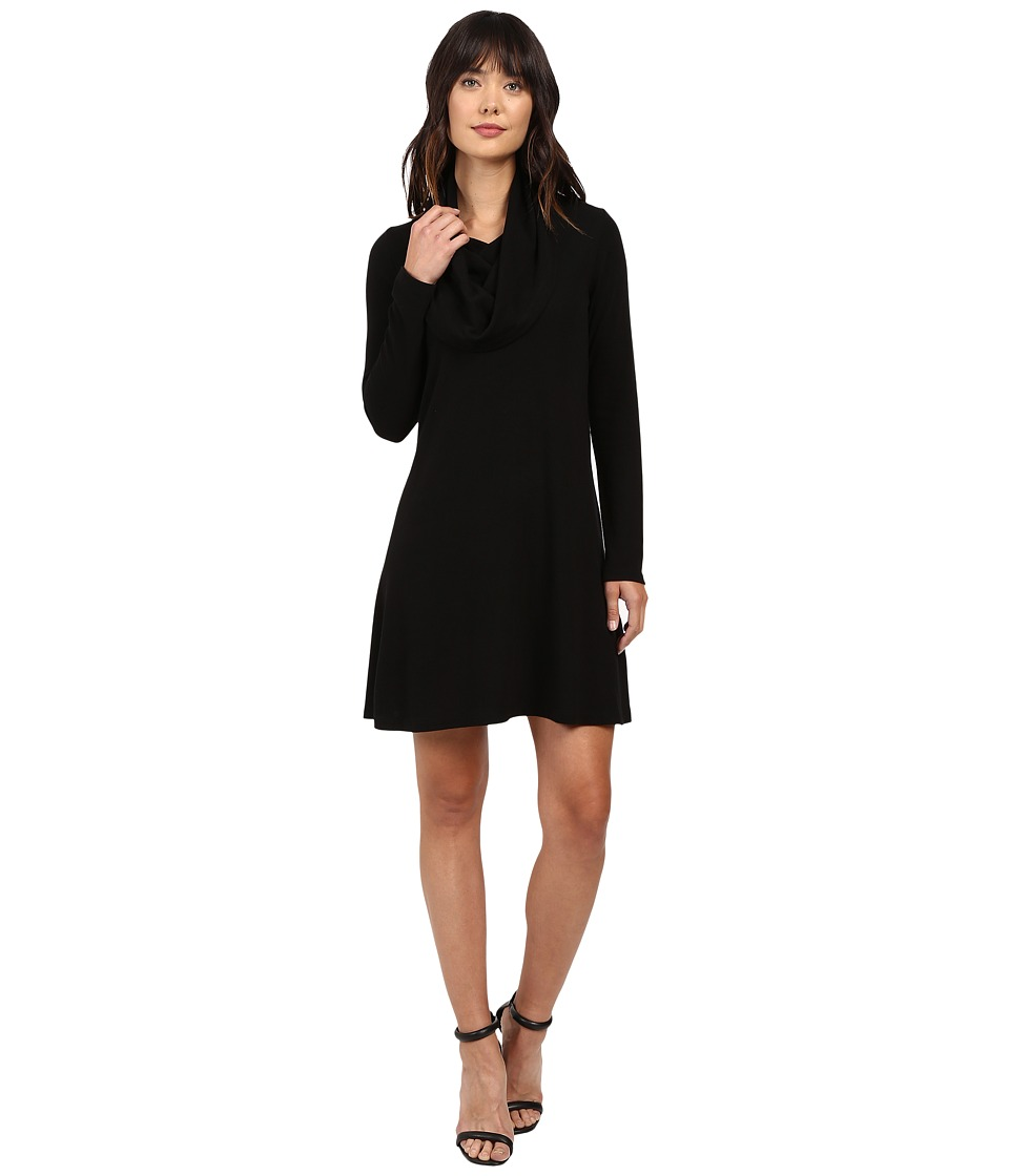 Karen Kane Cowl Neck Trapeze Dress (Black) Women