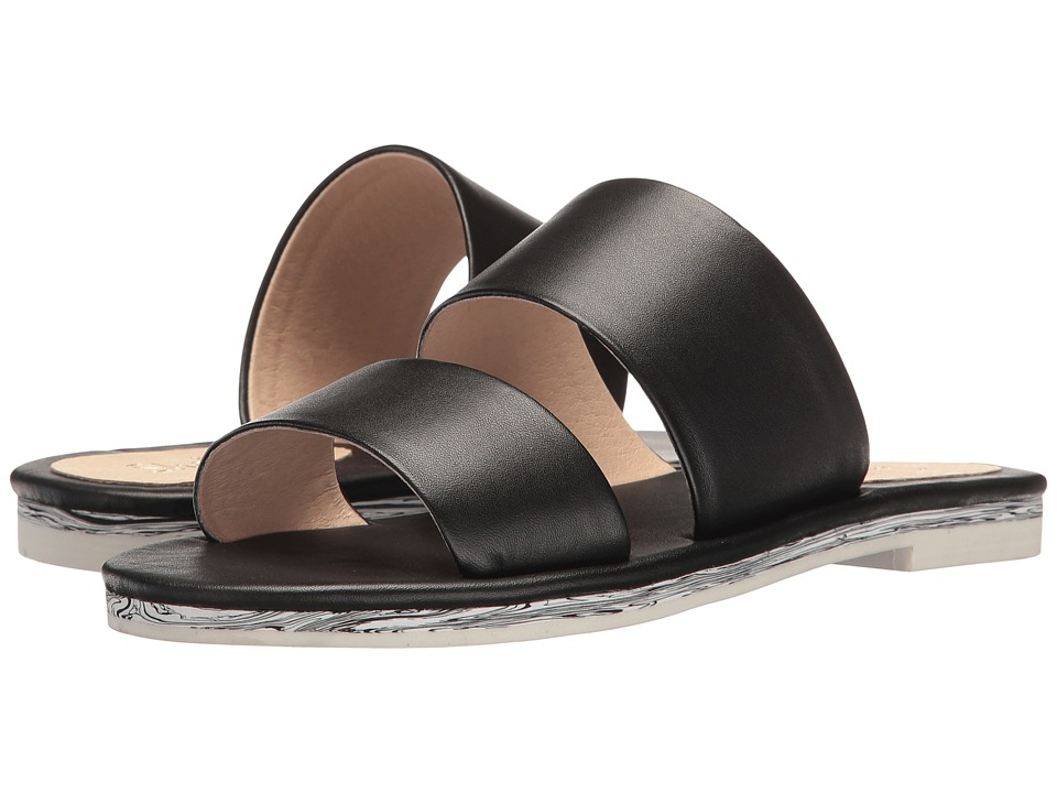 Shellys London Davan Slide (Black Leather) Women