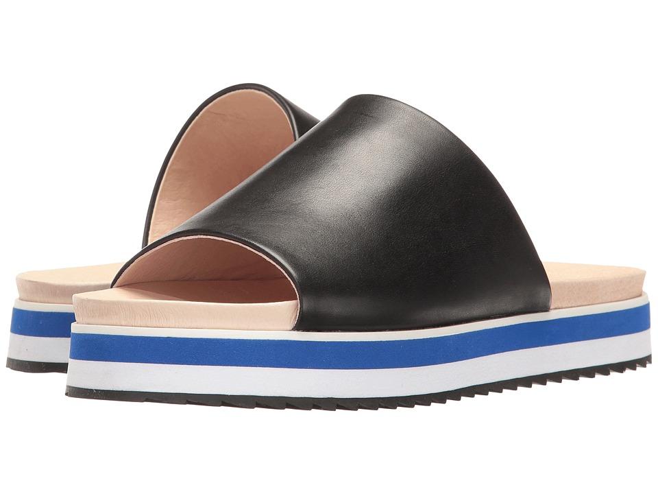 Shellys London - Deepti Slide (Black Leather) Women's Sandals