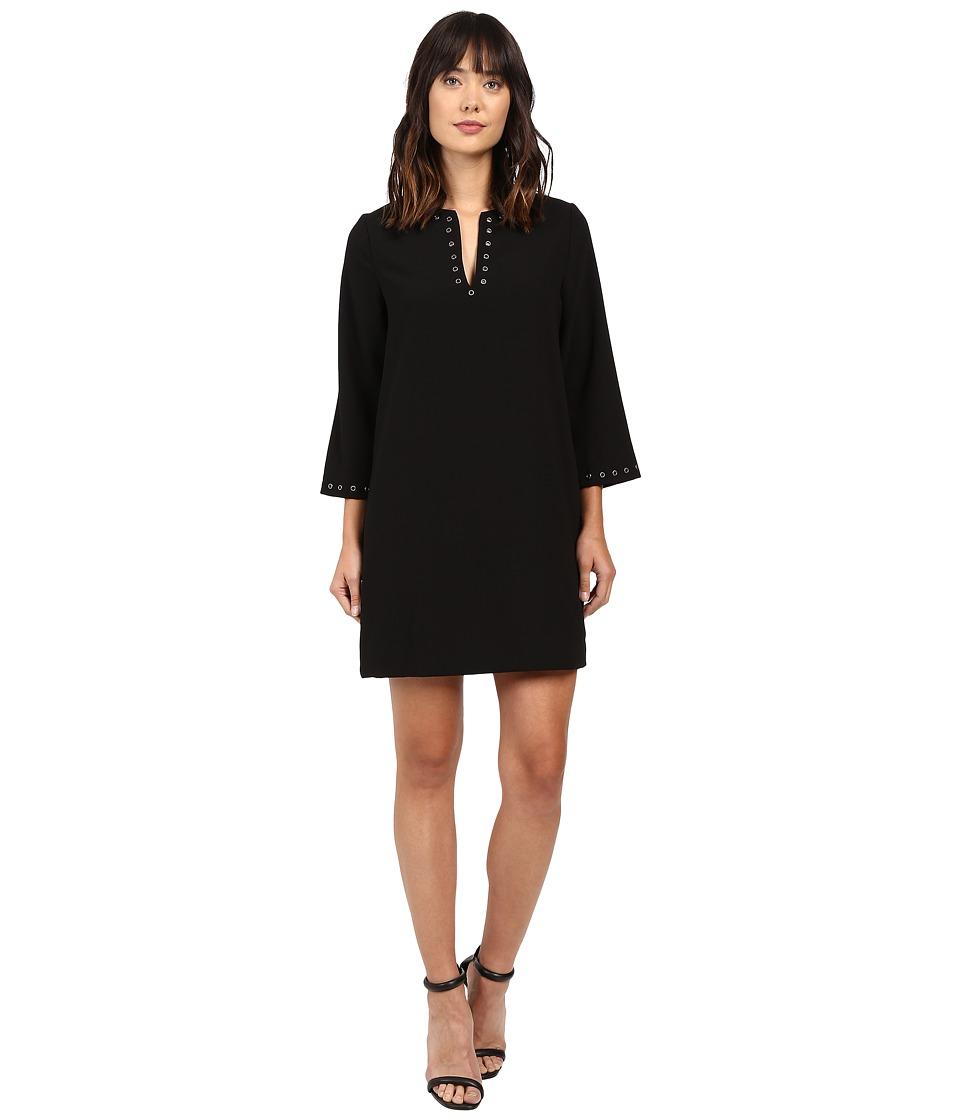 Karen Kane - Eyelet Border Shift Dress (Black) Women's Dress