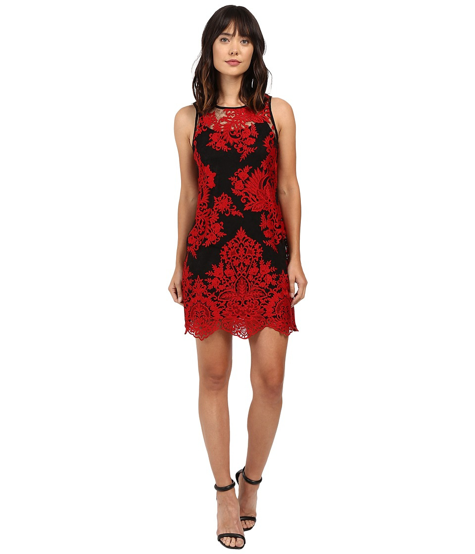 Karen Kane Embroidered Net Dress (Red) Women