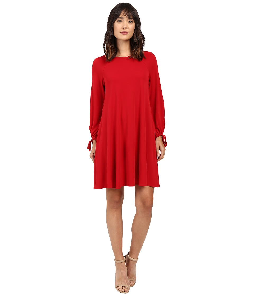Karen Kane - Tie-Sleeve Swing Dress (Red) Women's Dress