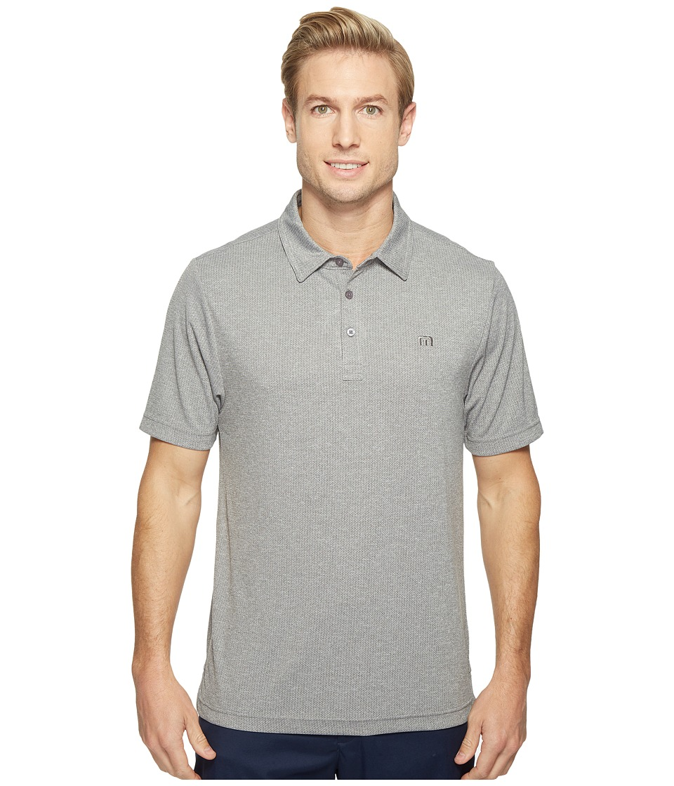 TravisMathew - Howver Polo Shirt (Heather Magnet) Men's Short Sleeve Pullover