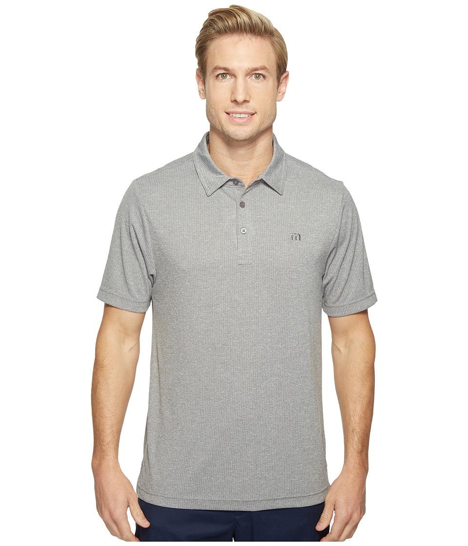 TravisMathew - Howver Polo Shirt (Heather Magnet) Men's Short Sleeve Pullover