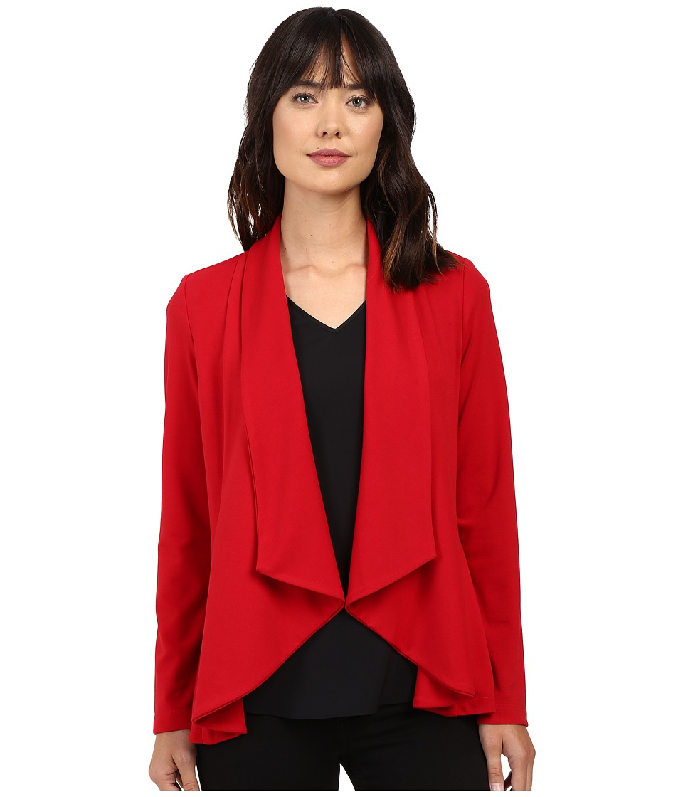 Karen Kane - Drape Collar Jacket (Red) Women's Coat