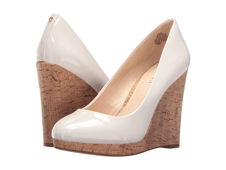Nine West Halenia 3 Off-White Patent Womens Wedge Shoes