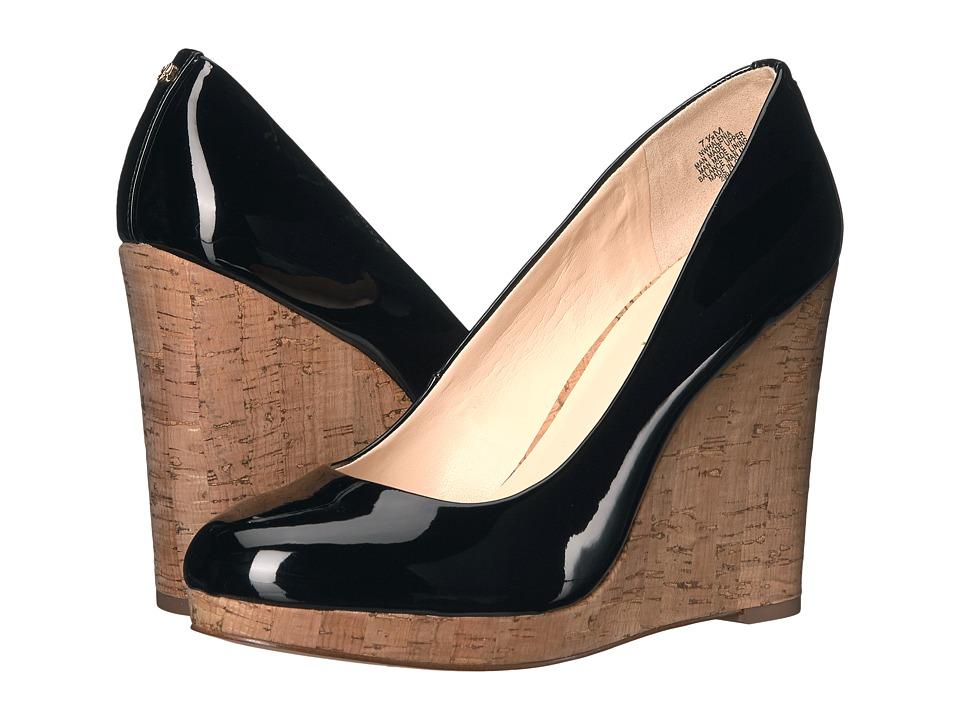 Nine West - Halenia 3 (Black Patent) Women's Wedge Shoes