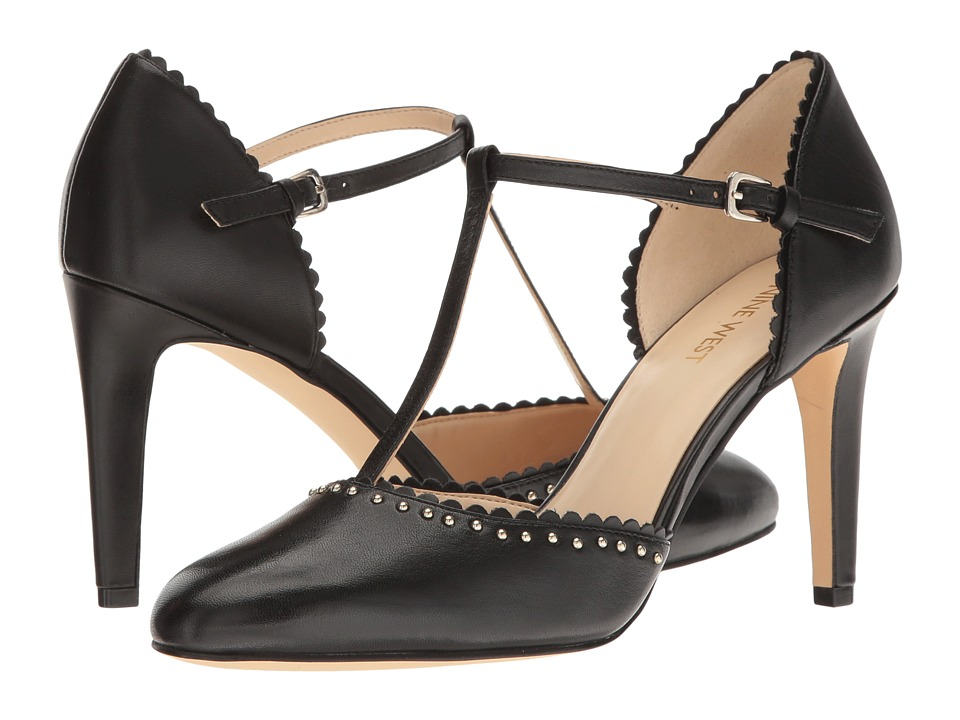 Nine West - Howella (Black Leather) High Heels