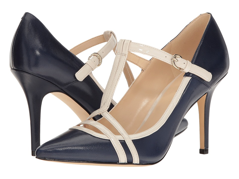 Nine West - Jantine (Navy/Off-White Leather) High Heels